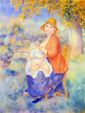 Art Renoir Mother and Child Ceramic Mural Backsplash Bath Tile #1684