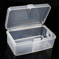 2x Mini Plastic Clear Transparent With Lid Collection Container Case Storage-Box
