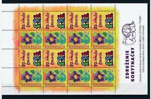 D178980 Slovakia MNH Sheetlet Flowers