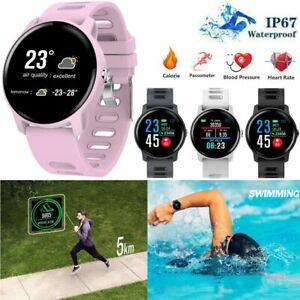 Smart Watch Bluetooth Waterproof Fitness Tracker Heart Rate Wristband Bracelet