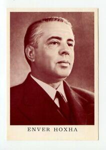 ALBANIA Enver Hoxha photocard Politics Propaganda Card