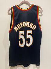 DIKEMBE MUTOMBO ~ Atlanta Hawks BLACK Jersey ~ CHAMPION ~ Size 48