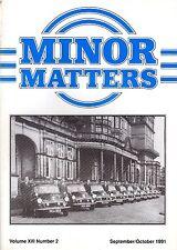 "MORRIS MINOR OWNERS CLUB MAGAZINE - ""MINOR MATTERS""   (September/October 1991))"