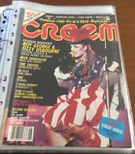 BOY GEORGE CULTURE CLUB *RARE CREEM VOL. 6 #1 USA MAGAZINE COVER & ARTICLE ONLY