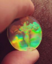 Vintage 9ct Gold Bezel Pendant Hologram of the Crucifixion of Jesus. Very Rare!!