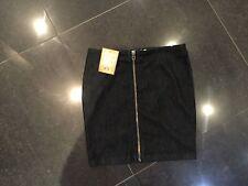 "NWT Juicy Couture New & Genuine Ladies Denim Cotton Skirt 27"" Waist With Logo"