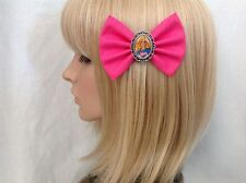 Barbie hair bow clip rockabilly pin up girl ken doll chic pink retro vintage