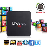 MXQ Pro 4K Ultra HD 3D 64Bit Wifi Android 8.1 Quad Core Smart TV Box