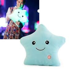 Romantic LPE Light Glow Pillow Soft Cosy Relax Cushion Stars Shape Gift Blue PE