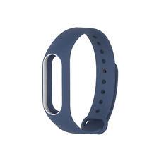 Silikon Armband Ersatzband für Xaomi 2 Mi Smartband Watchband Blau-Weiß