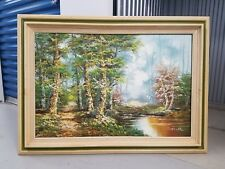 oil painting original signed schiller huge & framed