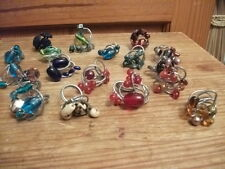 Collection of homemade costume jewerely rings