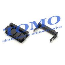Connettore femmina IDC per flat cable cavo piatto 16 poli 2 pezzi IDC-16-F