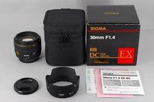 【AB Exc+】 SIGMA 30mm f/1.4 EX DC HSM AF Lens for Olympus Four Thirds JAPAN #2964