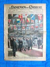 La Domenica del Corriere 22 aprile 1923 V. Emanuele-Mussolini - Alabama - Milano