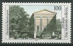 Germany 1991 MNH Architecture Choral Academy Berlin Building Mi-1520 SG-2369