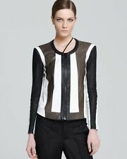 New Helmut Lang Runway Pax Panelled Leather Lined dress-y jacket US 0-2,P