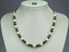 Pearl Glass Alloy Chain Costume Necklaces & Pendants