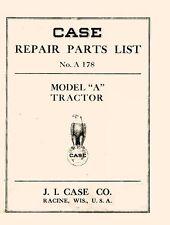 Case Model A Tractor Repair Parts List Catalog Manual