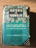 FORTUNES IN FORMULAS By Hiscox & Sloane RARE Vintage 1957 Hardcover
