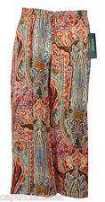 Ralph Lauren Womens Pants Wide Leg Palazzo Cropped Ethnic Printed Sz 8 NEW $119