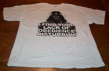 STAR WARS DARTH VADER I found Your Lack Of Obedience Disturbing T-Shirt XL NEW