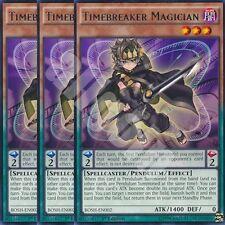 BOSH-EN002 3x TIMEBREAKER MAGICIAN (MAGO SPEZZATEMPO) Rare Yugioh