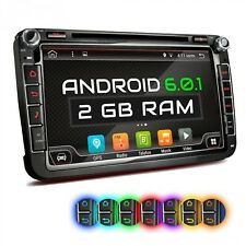 CAR STEREO WITH ANDROID 6.0.1 NAVI GPS DVD USB SD WIFI FITTING FOR VW SKODA SEAT