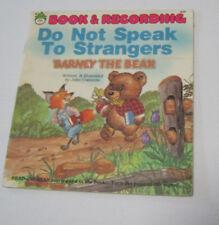 Barney the Bear Do Not speak to strangers kids book John Costanza