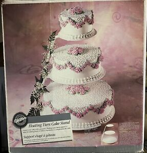 """Wilton 3 Tier Floating Cake Stand for 6"""", 10"""" & 14"""" cakes - complete with box"""