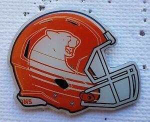 Large B.C. Lions Orange & White Helmet CFL logo pin