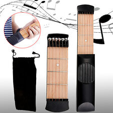 Beginners Practice Acoustic Mini Guitar Pocket Guitar 6 String Chord Trainer