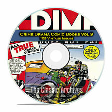 Crime Drama, Suspense, Vol 9, Crime Does Not Pay, 109 Golden Age Comics DVD D82