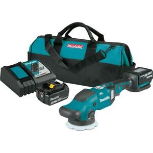 Makita XOP02T 18V LXT 5/6 Inch Dual Action Random Orbit Polisher Kit (5.0Ah)