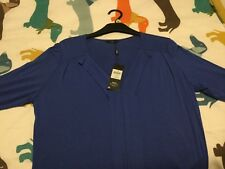 Ladies M&Co Top. BNWT. Royal blue 14 Petite.With Stretch.