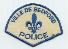 Ville de Bedford Police, Quebec, Canada HTF Vintage Uniform/Shoulder Patch