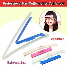 Professional Hair Cutting Clips Comb Tool Trim Bangs Hairstyle Fringe Women Y1
