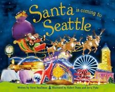 Santa Is Coming to Seattle  by Steve Smallman (English) Hardcover Book Free Ship