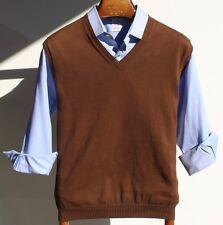 Brooks Brothers XL Gentleman's Brown V-Neck Pima Cotton Sweater Vest