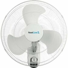 Royal Cove 18-inch 3-Speed Oscillating Wall Mount Fan in White, 2477855 New