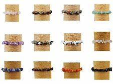 "Chipstone Gemstone Bracelets Elasticated Bracelet 7"" & Jewellery Gift boxes"