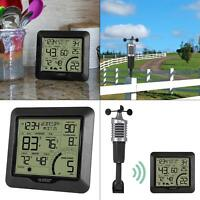 wind speed weather station with wind sensor   wireless outdoor indoor crosse new
