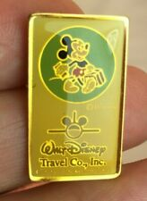 1989 WALT DISNEY TRAVEL CO PIN - MICKEY WITH SUITCASE - AIRPLANE LOGO Nice!