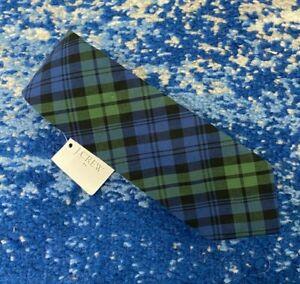 NEW J.CREW Blue Green Black Bias Plaid Slim Skinny Narrow Cotton Necktie