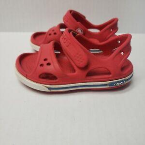 CROCS Youth Toddler Size C 6 Red Slides Sandals