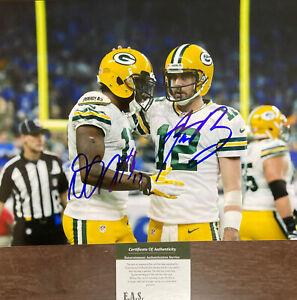 Aaron Rodgers DaVante Adams Green Bay Packers Signed 8x10 Photo COA