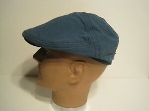 Stetson cotton hybrid newsboy driving cap HAT blue MEDIUM