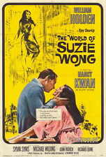 THE WORLD OF SUZIE WONG Movie POSTER 27x40 William Holden Nancy Kwan Sylvia Syms