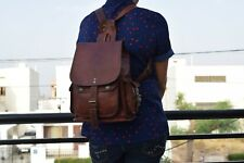 Vintage Leather Backpack Travel Handbag Women Rucksack Shoulder Bag SMALL 12""