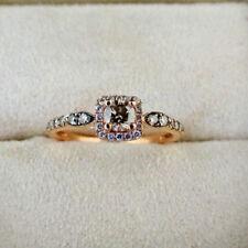 Le Vian 14k Rose Gold Round Brilliant 0.50 ctw Brown Diamond Ring Size 6